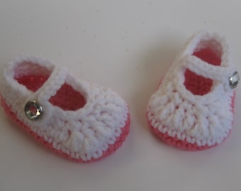 Crochet baby shoes, baby ballerina shoes, baby booties, girl shoes, baby girl booties, crochet booties, baby shower gift, newborn outfit