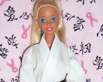 White Karate Outfit for Fashion Dolls