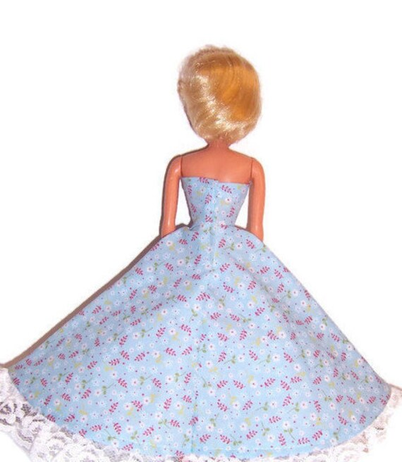 Beautiful Maroon Strapless Ball Gown Made to Fit Barbie Doll