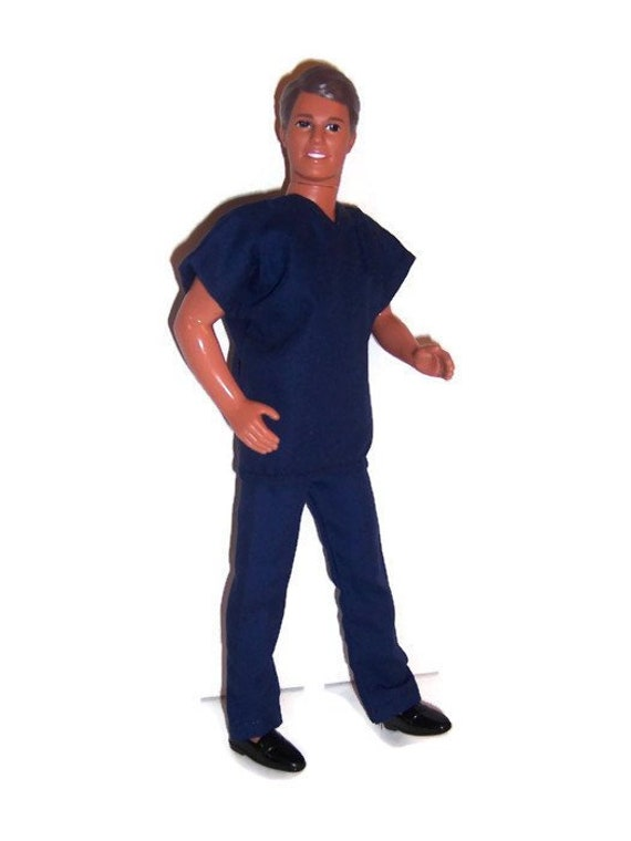 Doll Clothes-Slate Blue Scrubs-Made in the USA