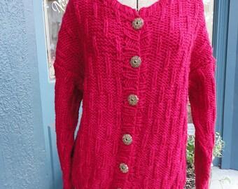 Handknit sweater as seen in Creative knitting magazine