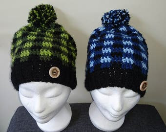 Supernatural, Winchester plaid inspired slouchy hats.