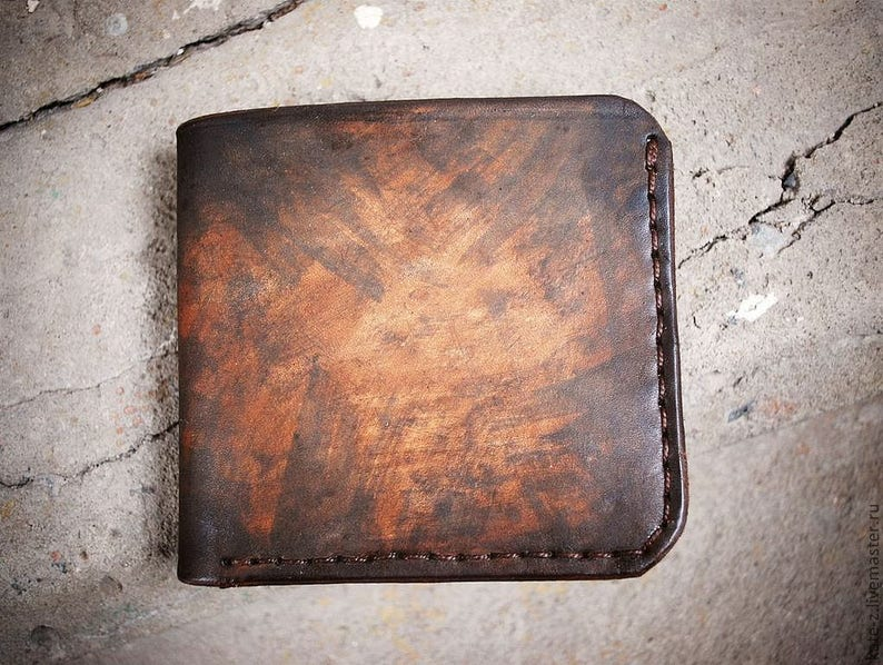 944fefc674 Handmade Leather Wallet Men Womens Wallet Women Leather Bifold | Etsy