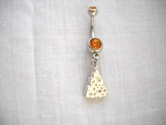 NEW BIRD EAGLE TALON DOUBLE CLAW 3D CHARM CLEAR CZ GEM BELLY RING NAVEL JEWELRY