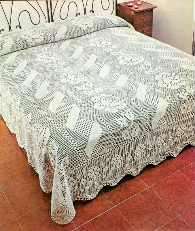 PDF Crochet bedspread pattern bedcover Crochet blanket | Etsy