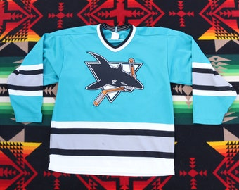 13cf9c519 True vintage Maska San Jose Sharks CCM NHL Hockey Jersey Size M Old Logo