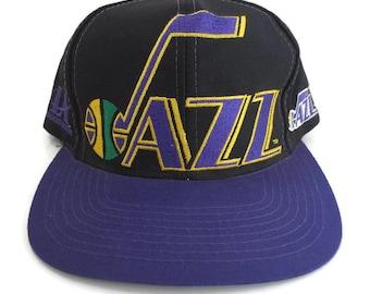 new style bfbee df86f best utah jazz vintage old logo huge logo script logo athletic snapback hat  deadstock we accept