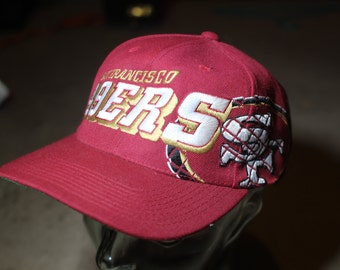 2f6a9280e Vintage 90s San Francisco SF 49ers Sports Specialties SnapBack HAT Red GRID