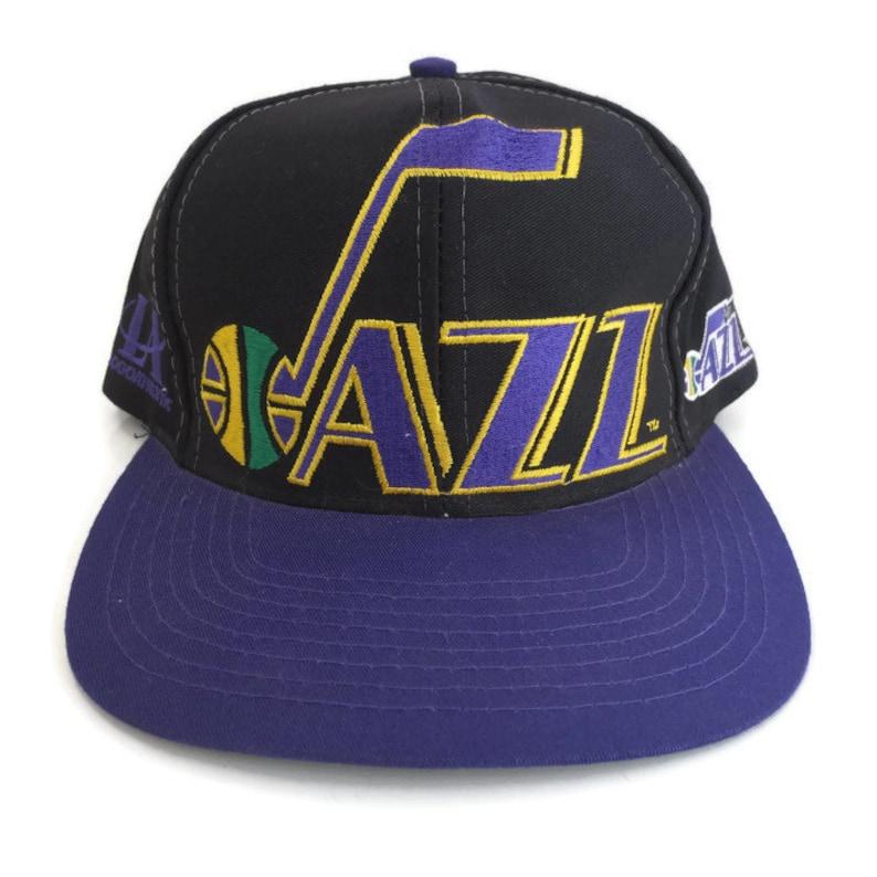 923196e8 Utah Jazz Vintage Old logo Huge logo Script Logo Athletic | Etsy
