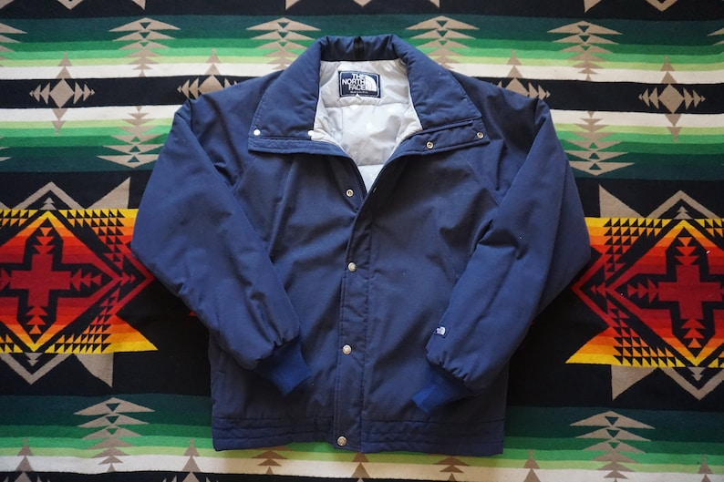 61e2a77d4 80s North Face Blue Label Down USA Ski Snowboard Snow Jacket Puffer Winter  Jacket Size Large Made in USA Navy Blue