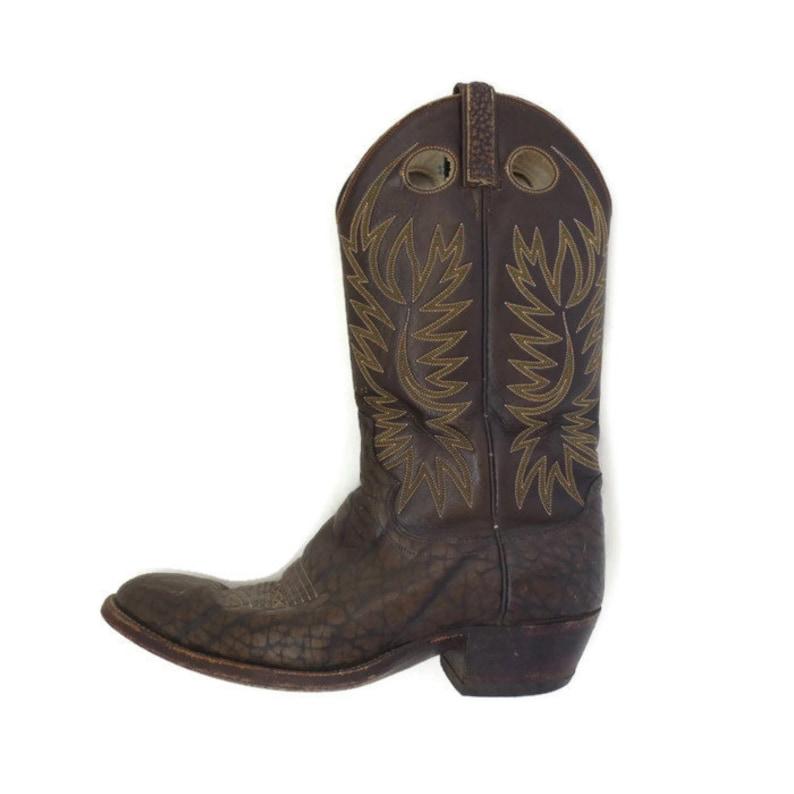 8d6d173be9700 Vintage Dan Post Cow Hide Leather Cowboy Boots Mens 8 We accept Bitcoin