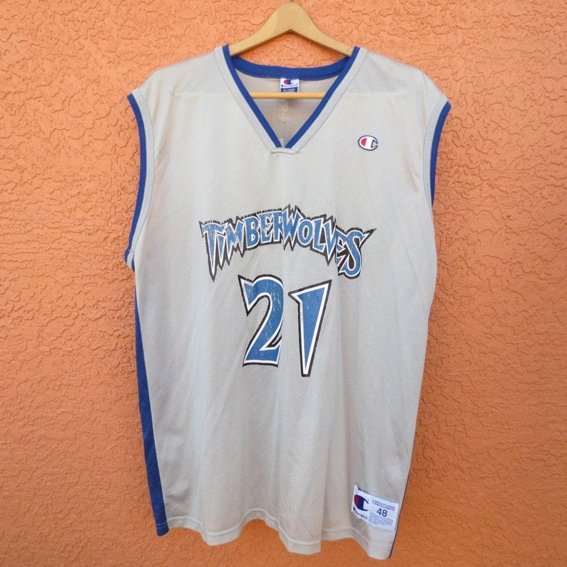 f5cc864322d Vintage Kevin Garnett Minnesota 21 Timberwolves NBA stitched