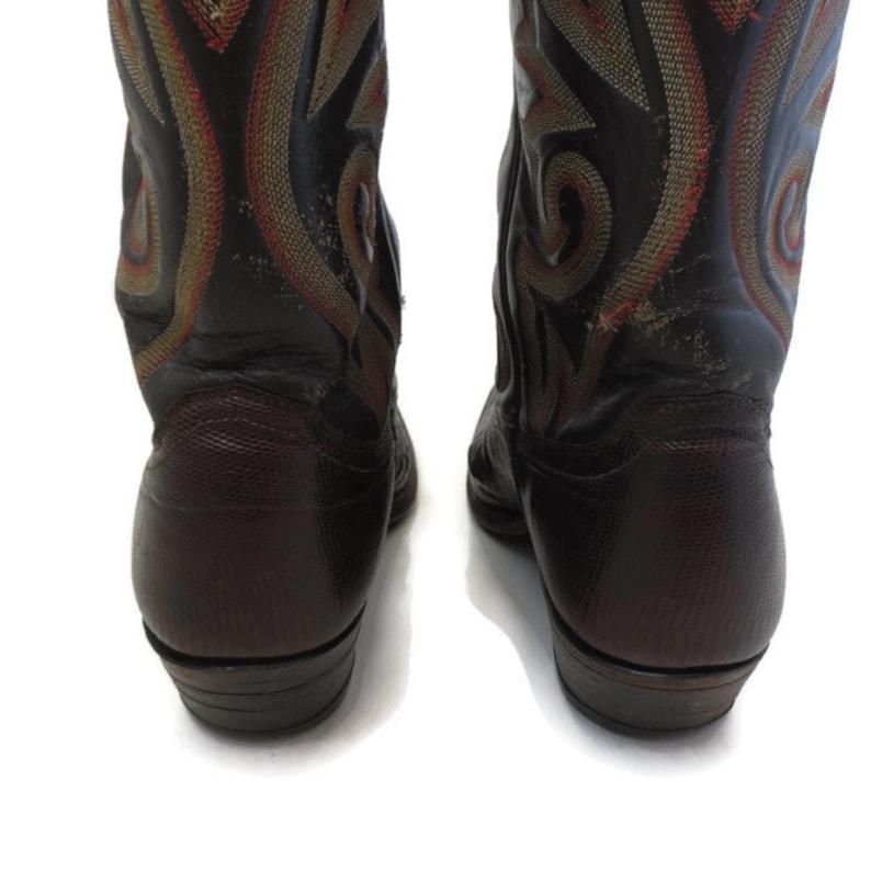 5293af1219723 Vintage Justin Tezu Lizard Leather Cowboy Boots Mens 10 B Narrow