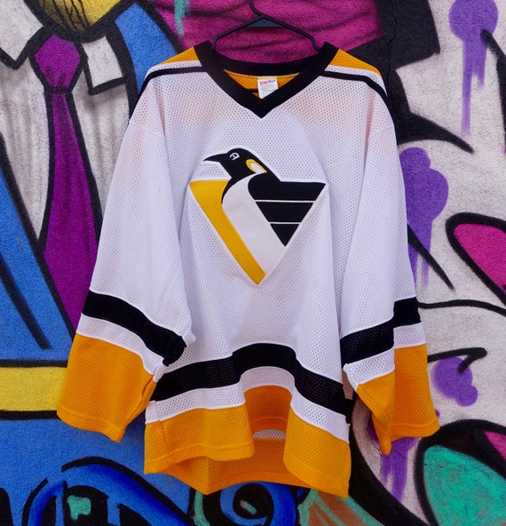 new concept 37305 1d563 Vintage Unisex Pittsburgh Penguins NHL Hockey Jersey Sewn CCM Size Mens  Large L