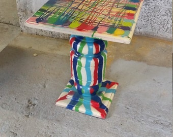 up-cycled side table