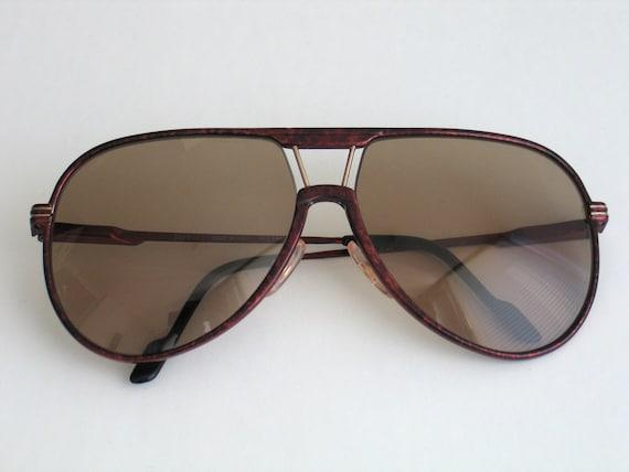 SALE 20% Ferrari Formula (model F,29) unisex vintage sunglasses. Made in  the 80\u0027s. Dark red frame and brown lenses.