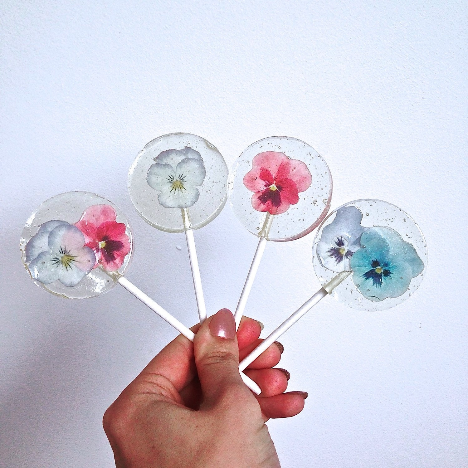 Flower Lollipop Wedding Favour Rice Paper Flower