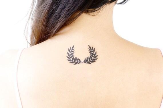 couronne de laurier de tatouages temporaires ensemble de 2 | etsy