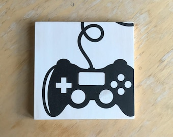 Video Game Controller - Gamer Gift - Gamer Room Decor - Gamer Sign - Gamer Party Decor - Video Game Decor - Video Game Art - Gamer Room Sign