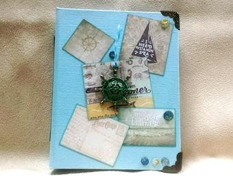 """Carnet de Notes """"thème de la Mer"""" de 10 x 13 cm"""