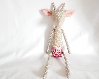 Tilda baby deer articulated doll - Handmade