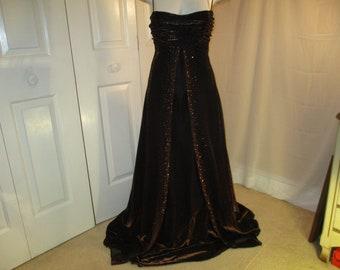 6dd15f2e65 Jump Apparel by Wendye Chaitin metallic formal prom dress