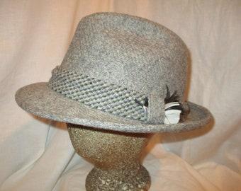 9d90869904d70 Items similar to DOBBS Fifth Avenue NY size 7 3 8 tweed plaid fedora ...
