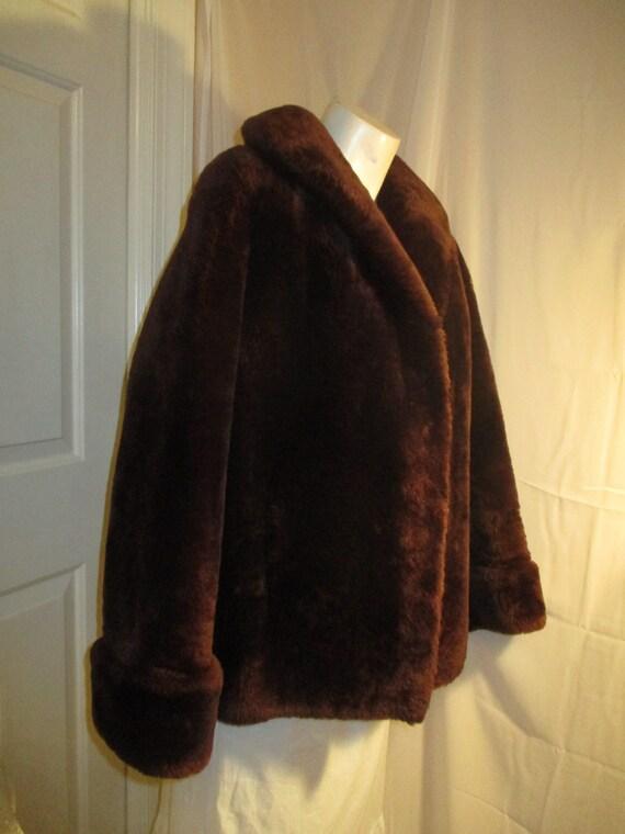 1940's mouton fur coat - image 2