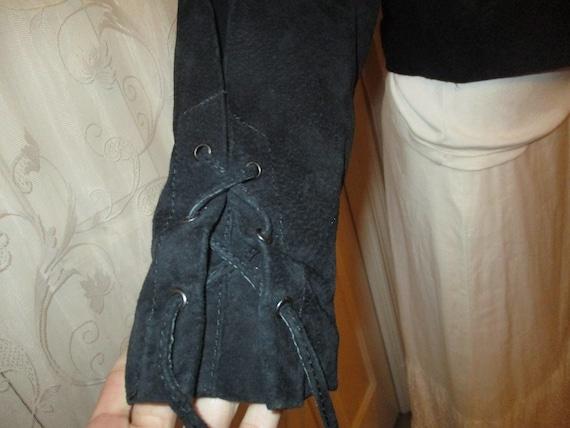 G III fringed cropped leather jacket - image 5