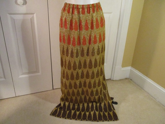 Nelly de Grab gold lame' maxi skirt