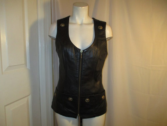 4 ever Leather Craft leather fitted vest