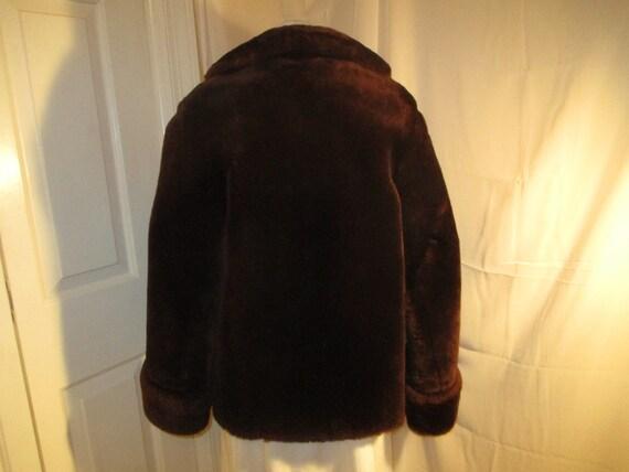 1940's mouton fur coat - image 3