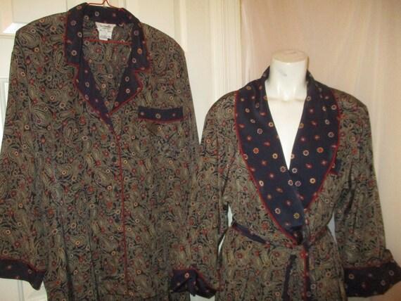 Christian Dior robe and pajama set