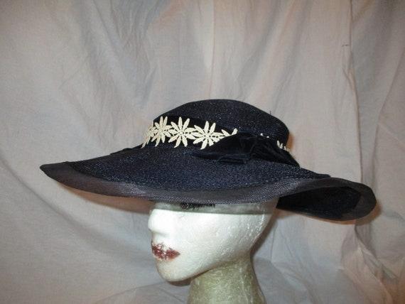 Fisk Chicago wide brim straw hat - image 2