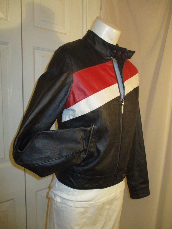 FJ leather moto jacket - image 7