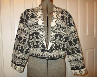 Vintage flashback southwest cropped jacket
