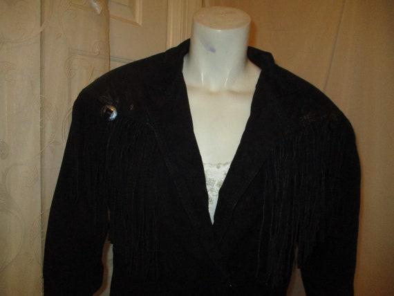 G III fringed cropped leather jacket - image 2