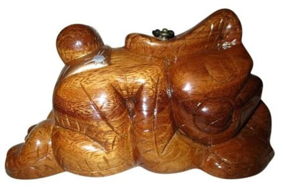 Timmy Woods handmade wooden sleeping bunny bag