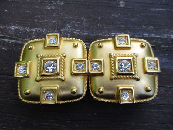 Doreen Ryan rhinestone belt buckle