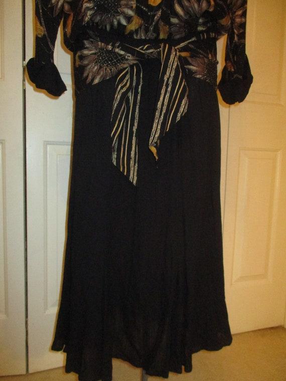 Carole Little sunflower print blouson dress - image 4