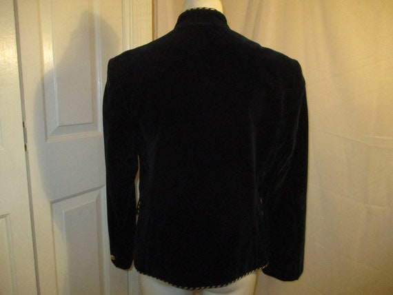 Evan Picone velvet military blazer/jacket - image 7