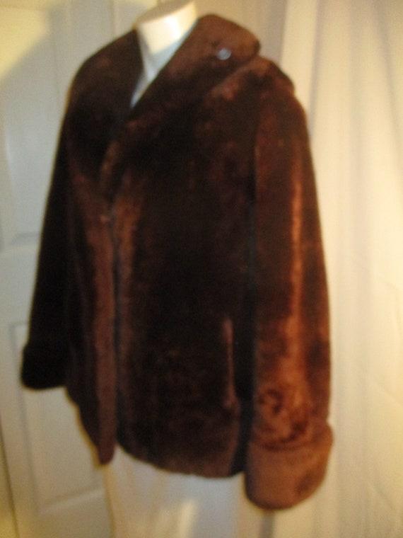 1940's mouton fur coat - image 4
