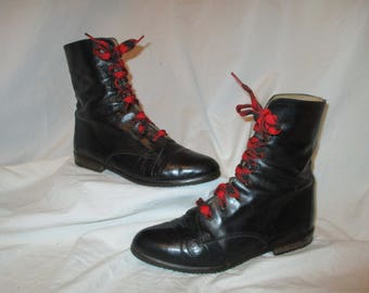 Vintage Nickles leather granny/combat boots size 6
