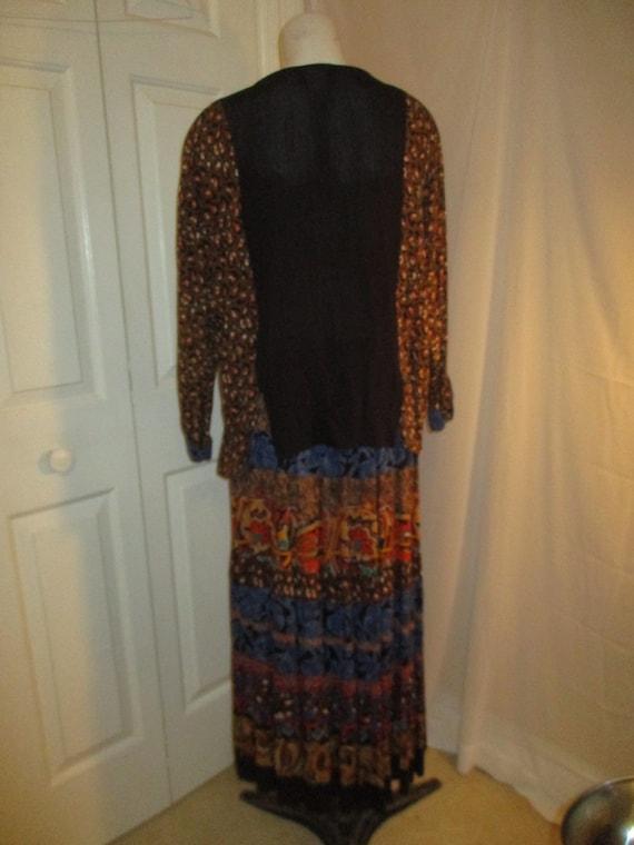Carole Little boho tiered skirt and tunic - image 6