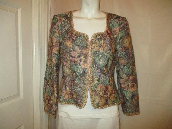 Miss Elliette floral tapestry blazer/jacket