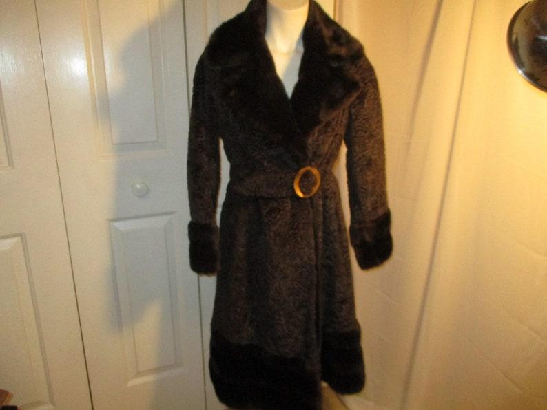 Borre sculpted velvet and faux fur coat