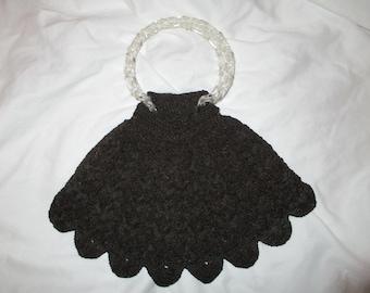 Vintage crochet evening bag