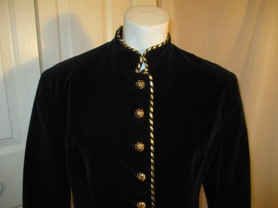 Evan Picone velvet military blazer/jacket - image 2
