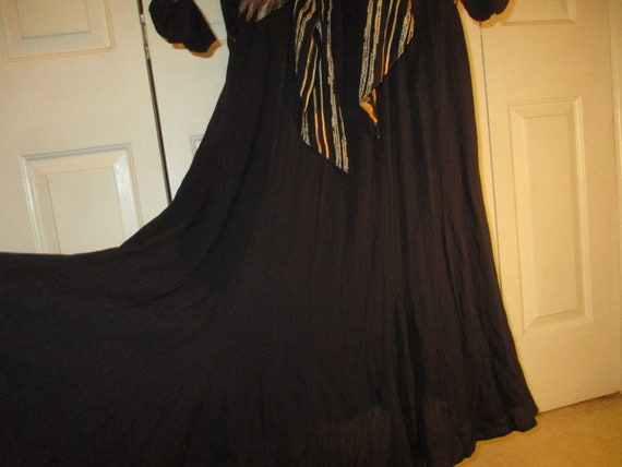 Carole Little sunflower print blouson dress - image 5