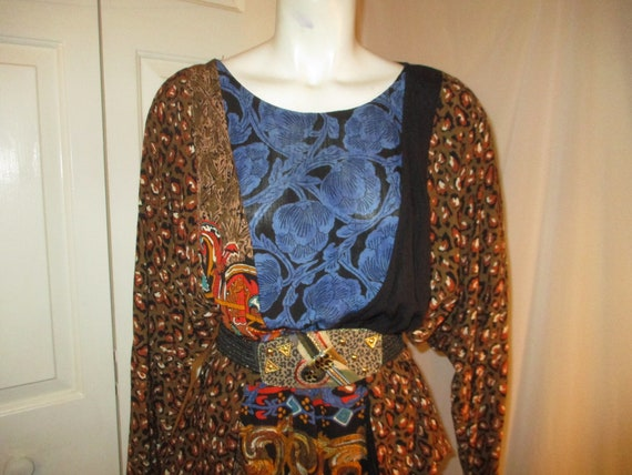 Carole Little boho tiered skirt and tunic - image 2
